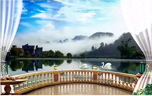 Yirenfeng Pavillon in der Seehintergrundwand -