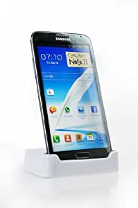 USB Data Transfer Charger Charging Dock for Samsung N7100 Galaxy Note II 2 - White