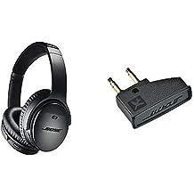 QuietComfort 35 II Cuffie Bose Wireless (Bluetooth) – Nero + Bose  Adattatore Aereo per 9c9af01f7976