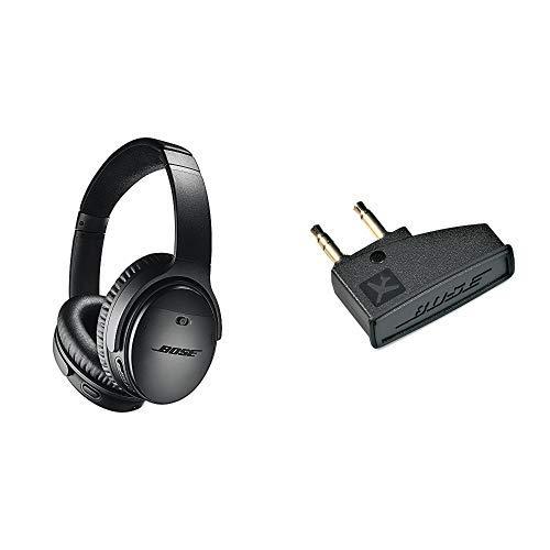 QuietComfort 35 II Cuffie Bose Wireless (Bluetooth) – Nero + Bose Adattatore Aereo per Cuffie Bose QuietComfort3
