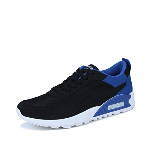 Men's Breathable Trendy Luxury Outdoors Zapatillas Running Shoes blue