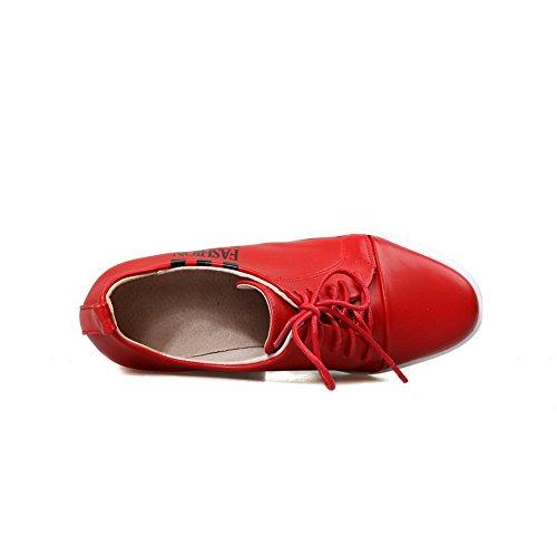 BalaMasa da donna, con tacco, senza lacci, in pelle, per scarpe Imitated pompe Rosso (rosso)
