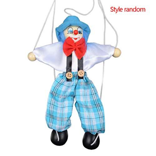 Fornateu Tire Colorido Cuerdas Marionetas Payaso marioneta