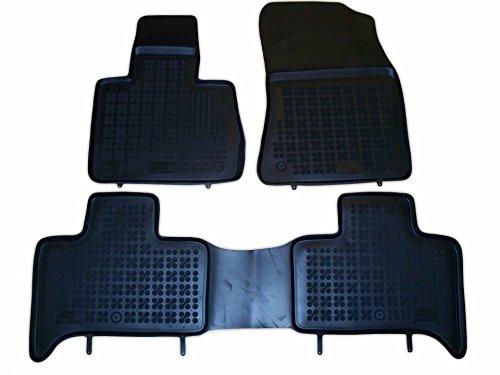 Rezaw - Plast 200715 Negro Alfombras de goma, Premium alfombrillas de goma , borde 3 centímetros