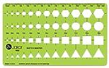 Schablone Zeichenschablone Technisches Zeichnen - Pfeile Sechseck Kreis Quadrat Dreieck