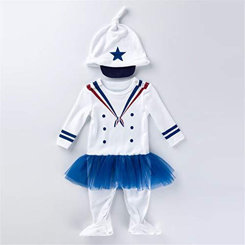 ZGCP Halloween Kostüm Baby Onesies sowie Sand Baumwolle Langarm einteilige Sneakers Sailor (Remake Kostüm)