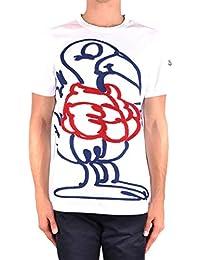 MONCLER Homme MCBI212083O Blanc Coton T-Shirt