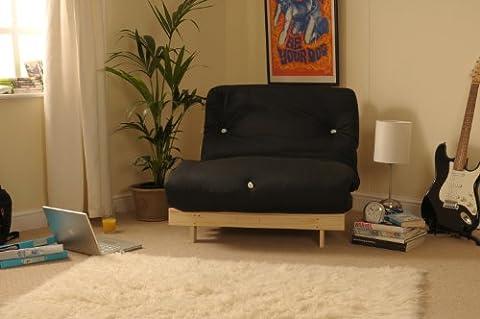 3ft (90cm) Single Wooden Futon with BLACK