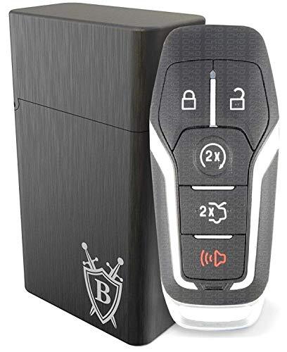 Keyless Go Schutz Autoschlüssel BRINGO Aluminiumdose RFID Blocker Auto Funkschlüssel Hülle Box Schutzhülle Diebstahl Lock Signal Zentralverriegelungen (S)