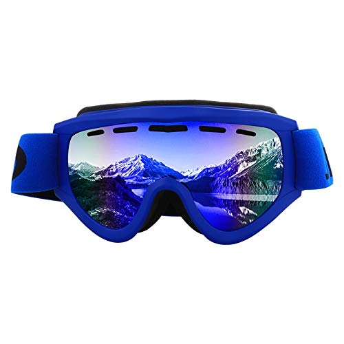 Adisaer Schutzbrille Labor Zylindrische Skibrille Schutzbrillen Windschutzscheibe Männer Und Frauen Langlauf Brille Blue Rainbow Damen Herren