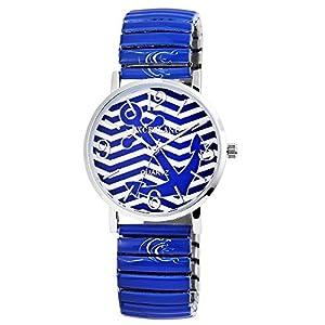 Excellanc Damen - Uhr Maritim Zugband Metall Armbanduhr Analog Quarz 1700006