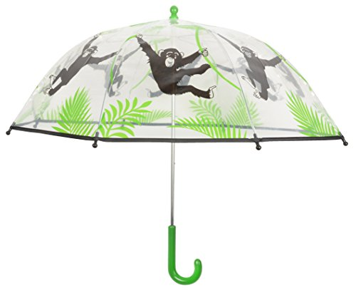 Esschert Design kg168 Kinder Regenschirm Transparent Monkey