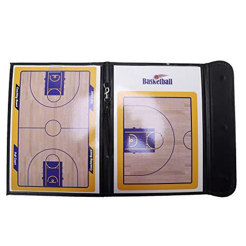 WOVELOT Magnetischer Basketball Taktik Brett DREI Fach Gefalteter Trainer Unterrichts Brett Mit Magnetischem Griffel