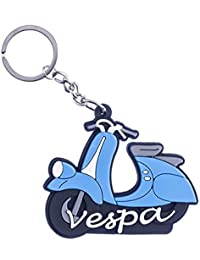 GCT Double Sided Vespa Scooter Bike Logo Rubber Keychain | Key Chain For Your Car Scooter Bike Keys | Key Ring...