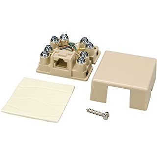 Allen Tel Products AT635C3 1 Port, Mounting Screw, Snap-On Cover, 8 Position, 8 Conductor, Keyed, No Shorting Bar Voice Connecting Block, Ivory