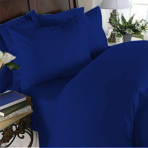 Eleganter Komfort 3-teiliges Bettwäsche-Set mit Fadenzahl 1500 luxuriös, sehr weich, ägyptische Qualität, kuschelig, Königsblau (Blue Bettwäsche Royal Queen)