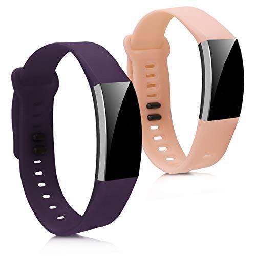 kwmobile Bracelet Huawei Band 2 / Band 2 Pro - Set 2X Bracelet de Rechange en Silicone pour Fitness Tracker Huawei Band 2 / Band 2 Pro
