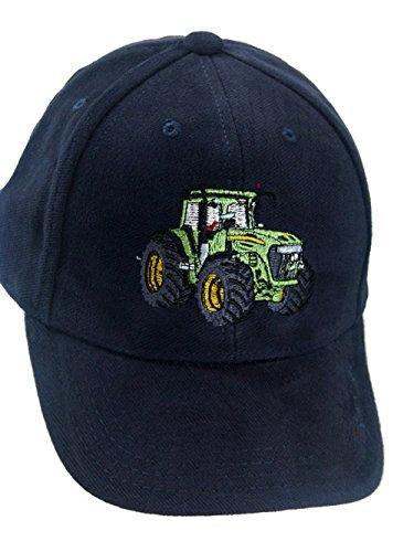 Baseball Kappe Cap Stickerei grüner Traktor C09B (blau)