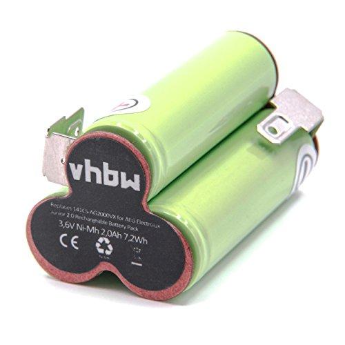 vhbw NiMH Akku 2000mAh (3.6V) für Staubsauger Home Cleaner Heimroboter AEG/Elektrolux Junior 2.0