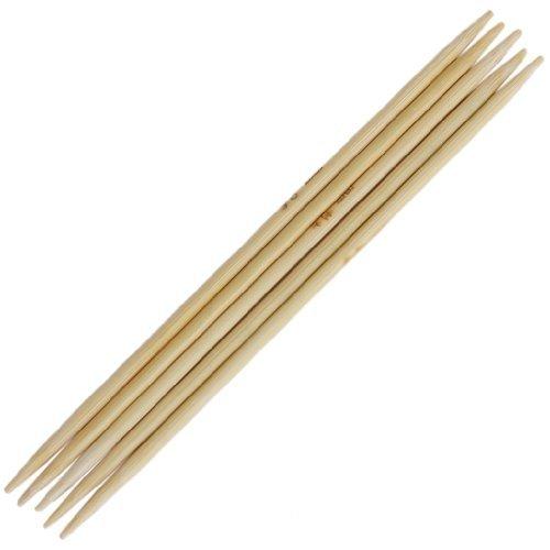 11 x 5 pcs 12,4 cm double pointe Aiguilles à tricoter en bambou 2.0 -- 5.0 mm