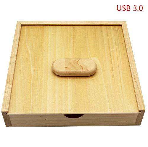 HEDOMEN USB 3.0 Fotografie Custom Made Holz + Box USB-Stick 4 GB 8 GB 16 GB Ahorn aus Holz Usb3.0 Mit Box 16 GB