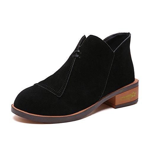 Stiefel Schuhe Damen Julywe Frauen Herbst Ankle Solide Roman Martin Kurze Stiefel Einzelne Schuhe
