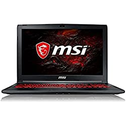 "MSI PE62 7RD-2221FR Ordinateur Portable Hybride 15,6"" Noir (Intel Core i7, 8 Go de RAM, 1 to, Carte Graphique dédiée GeForce GTX 1050 GDDR5 4Go, Windows 10) Clavier AZERTY Français"