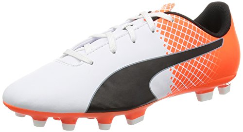 Puma Evospeed 5.5 Ag Jr Scarpa da Calcio Bianco/Nero/Shocking Orange
