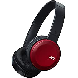 Jvc Foldable Deep Bass On-ear Bluetooth Wireless Headphones With Dynamic Bass Boost - Red