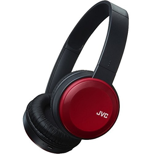 4dc7b8e46e3 JVC S30BT Over Ear Bluetooth Wireless Foldable Headphones with Dynamic Deep Bass  Boost - Red