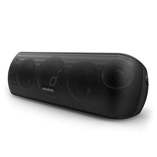 Soundcore Motion+ Bluetooth Lautsprecher mit Hi-Res 30W Audio, BassUp Technologie, Kabelloser HiFi Lautsprecher mit zugehöriger App, Flexibler EQ, 12 Stunden Akkulaufzeit (Schwarz)