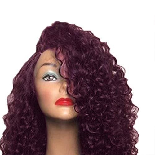 Aiming Frauen Afrikanische kleine Rolle Haar hitzebeständige synthetische volle Perücke-Faser-lockiges Wavy Perücke Haarstyling Supplies -