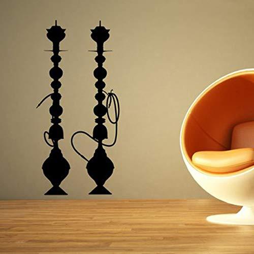 shiyueNB Wasserpfeife Wandaufkleber Shisha Vinyl Aufkleber Arabische Kultur Rauchendekor Wanddekor Poster Kunst Shisha Wasserpfeife Wandbild Tapete 1 42x88cm (Kunst Aus Glas, Wasserpfeife)
