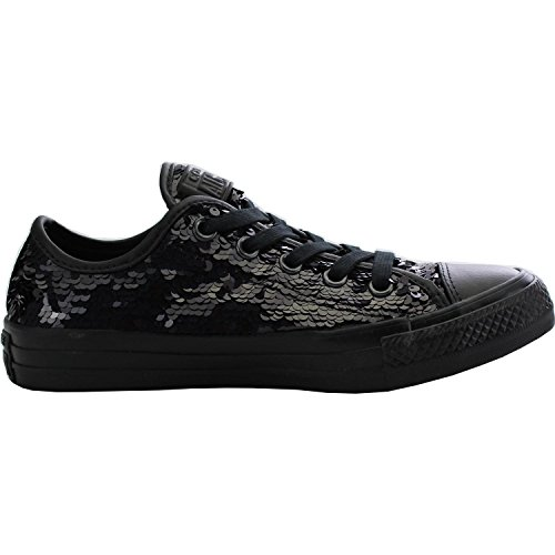 Converse Chuck Taylor All Star Sequin Ox Black Textile Trainers Black