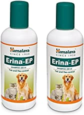Pawsitively Pet Care Himalaya Erina EP Tick & Flea Shampoo for Dogs/Cats, 200ml- Pack Of 2