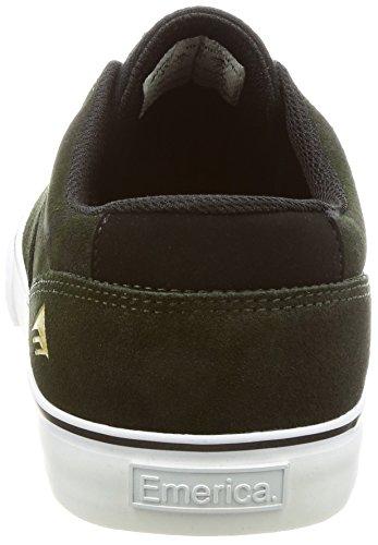 Emerica Provost Slim Vulc X Toy Machine, Herren Skateboardschuhe Green/Black/White