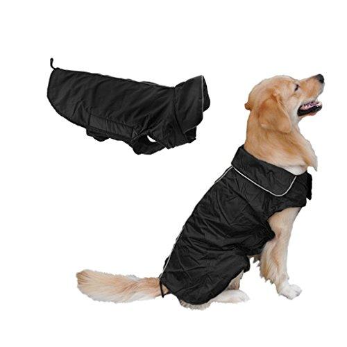 Wasserdicht Hundemantel Große Hunde Wintermantel gefüttert Hundejacke Regenmantel Winter warme Kleidung Hundebekleidung XL XXL XXXL (Optimalen Mantel Glanz)