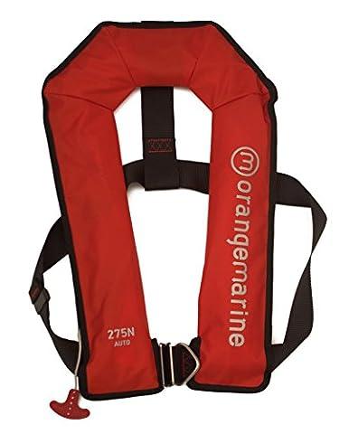 ORANGEMARINE Gilet de sauvetage gonflable automatique avec harnais 275 N - ROUGE