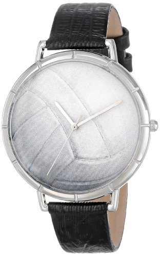 whimsical-watches-volleyball-lover-black-leather-and-silvertone-photo-unisex-quartz-watch-with-white