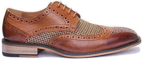 Justin Reece Gerald, Chaussures de ville à lacets pour homme Marron