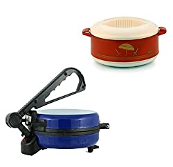 GTC COMBO OF NATIONAL BLUE ROTI MAKER WITH CASSEROLE
