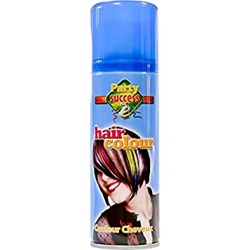 Spray couleur cheveux bleu