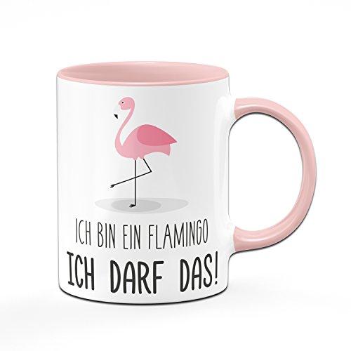 Flamingo Tasse – Ich Bin EIN Flamingo ICH DARF Das! – Kaffetasse, Sprüchetasse