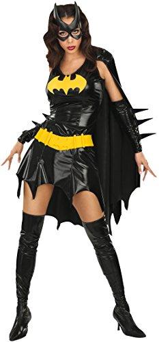 KULTFAKTOR GmbH Batgirl Damenkostüm Lizenzware schwarz-gelb M