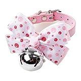 Simpatico collare per cravatta per cani Grosso fiocco Campane in argento Collare per gatto Qualità regolabile per cuccioli Moda per animali Forniture per animali Vendite calde Prodotti di bellezza