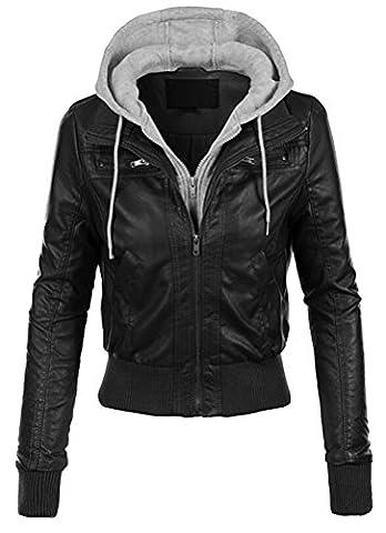 Blouson Moto Xl - MILEEO femme vêtement veste en cuir blouson