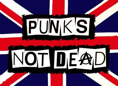 Punks Not Dead Anarchy Green Day Partyrama-Bandiera