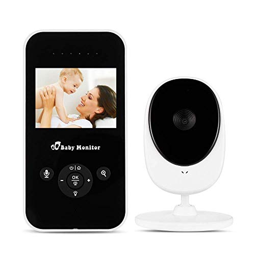 Vigilabebes con Camara, Baby Monitor Wireless 2.4 Batería VOX recargable con visión nocturna Sensor de temperatura Lullabies
