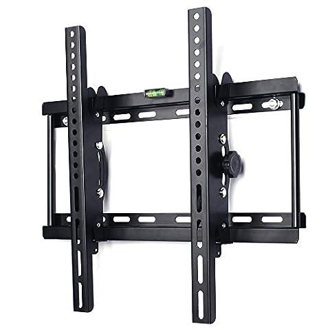 BPS Support Mural TV inclinable pour téléviseur de 32-55 pouces (80-140cm) jusqu