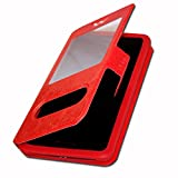 Oukitel K10 Etui Housse Coque Folio rouge de qualité by Ph26®